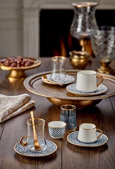 Koleksiyon Sufi Türk Kahvesi Seti 6'Lı İkat Antrasit Antrasit
